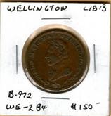Wellington: c. 1813 Halfpenny B-971 WE-2B4