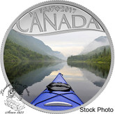 Canada: 2017 $10 Celebrating Canada Kayaking on The River Silver Coin