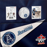 Canada: 2012 25 Cents The Toronto Argonauts Coloured Coin & Stamp Set