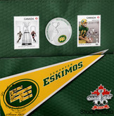 Canada: 2012 25 Cents Edmonton Eskimos Coloured Coin & Stamp Set