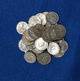 Canada: 1945 5 Cent Victory Nickel (40 pcs) Average Circulated Condition