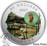 Canada: 2017 $20 Under The Sea Seahorse Silver Coin