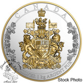 Canada: 2016 $250 The Arms of Canada Silver Coin