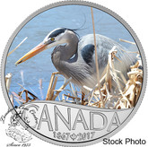 Canada: 2017 $10 Celebrating Canada Blue Heron Silver Coin