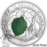 Canada: 2017 $20 Brilliant Birch Leaves with Drusy Stone Silver Coin