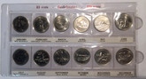 Canada: 1992 25 Cent 125 Year of Confederation Provinces Coin Set
