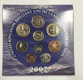 Great Britain: 2007 Uncirculated Coin Collection