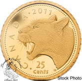 Canada: 2011 25 Cent Cougar Gold Coin