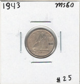Canada: 1943 10 Cents MS60