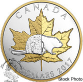 Canada: 2017 $25 Timeless Icons The Beaver Piedfort Silver Coin