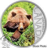 Canada: 2017 $10 Celebrating Canada Grizzly Silver Coin