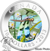 Canada: 2013 $10 Twelve-Spotted Skimmer Fine Silver Coin