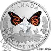 Canada: 2017 $3 Celebration of Love Heart-Shaped Swarovski® Crystal Silver Coin