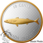 Canada: 2017 1967 10 Cents Mackerel Big Coin Series 5 oz Silver Coin