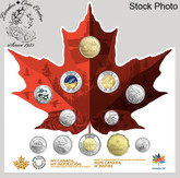 Canada: 2017 150 Circulation 12 Coin Collection Includes Glow in Dark Toonie