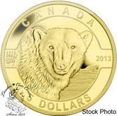 Canada: 2013 $5 The Polar Bear O Canada Series 1/10 oz Pure Gold Coin