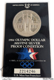 United States: 1984 $1 Olympic Silver Dollar Coin
