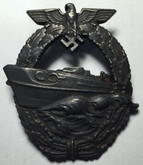 Germany: E-Boat Badge, 2nd Version. Marked GB 57