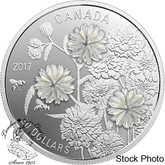 Canada: 2017 $20 Pearl Flowers Silver Coin