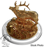 Canada: 2017 $100 Sculpture of Majestic Canadian Elk 10 oz Silver Coin