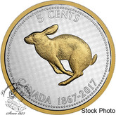 Canada: 2017 1967 5 Cents Rabbit Big Coin Series 5 oz Silver Coin