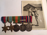 Air Crew Europe Campaign Medal Bar with Photo