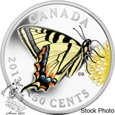 Canada: 2013 50 Cent Canadian Butterfly Tiger Swallowtail Coin