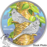 Canada: 2017 $10 Birds Among Nature's Colours - Tufted Titmouse Silver Coin