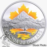 Canada: 2017 $20 Canada's Coasts Series Pacific Coast Silver Coin