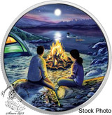 Canada: 2017 $15 Great Canadian Outdoors: Around The Campfire Silver Coin