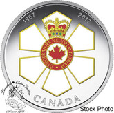 Canada: 2017 $20 Canadian Honours 50TH Anniversary Of The Order Of Canada Silver Coin