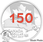 Canada: 2017 $1 Special Edition Proof Enameled Our Home and Native Land Silver Dollar Coin
