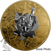 Canada: 2017 $50  Superman DC Comics Originals: The Brave and The Bold - 3 oz. Reverse Gold-Plated Pure Silver Coin