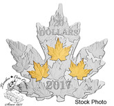 Canada: 2017 $20 Gilded Silver Maple Leaf - Pure Silver Coin