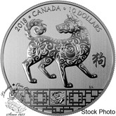 Canada: 2018 $10 Year of the Dog - Pure Silver Coin