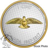Canada: 2017 1 Cent Rock Dove Big Coin Series: Alex Colville Design Silver 5 Ounce Coin