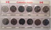 Canada: 2000 25 Cent Millennium Set (12 Coins)