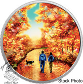 Canada: 2017 $15 Great Canadian Outdoors: Sunrise Pure Silver Glow in the Dark Coin
