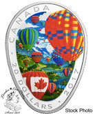 Canada: 2017 $20 Hot Air Balloon Silver Coin