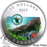 Canada: 2017 $20 Under The Sea: Sea Turtle Silver Coin