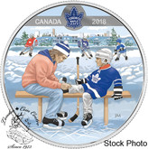 Canada: 2018 $10 Learning to Play: Toronto Maple Leafs® Silver Coin