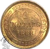 Canada: Newfoundland 1888 $2 Gold MS60