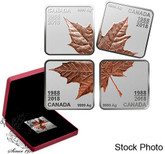 Canada: 2018 Maple Leaf Quartet - Thirty Years (1988 - 2018) Pure Silver Rose Gold Plated Coins