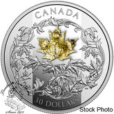Canada: 2018 $30 Golden Maple Leaf Pure Silver Coin