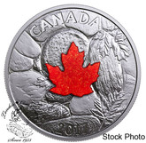 Canada: 2017 $20 Majestic Maple Leaves With Drusy Stone Pure Silver Coin