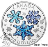 Canada: 2018 $20 Ice Crystals Pure Silver Coin