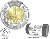 Canada: 2017 $2 100th Anniversary of The Battle of Vimy Ridge Special Wrap Roll