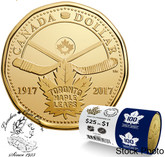 Canada: 2017 $1 100th Anniversary of The Toronto Maple Leafs Special Wrap Roll
