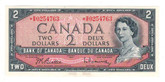 Canada: 1954 $2 *R/R Replacement Banknote