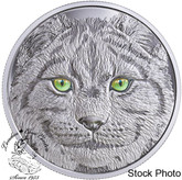 Canada: 2017 $15 In The Eyes of the Lynx Silver Coin
